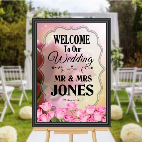 Personalised Welcome to our Wedding Sign Poster Banner - Print N174